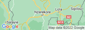 Nzerekore map