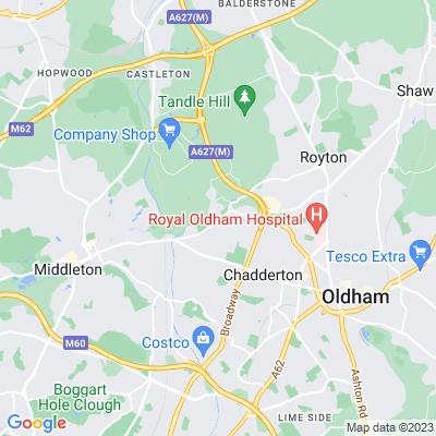 Chadderton Hall Park Location