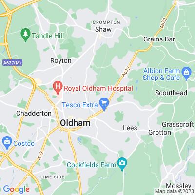 Stoneleigh Park, Oldham Location