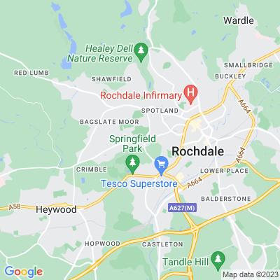 Rochdale Cemetery Location