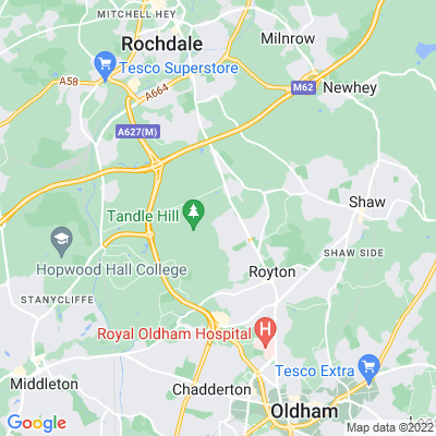 Tandle Hill Park and Woods Location