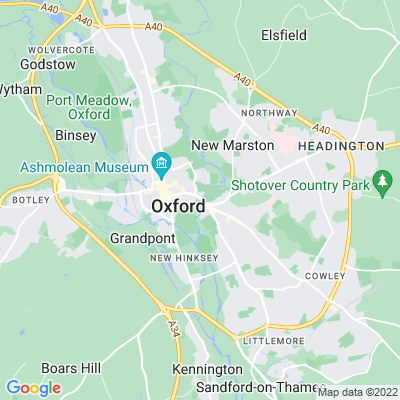 Oxford Botanic Garden Location