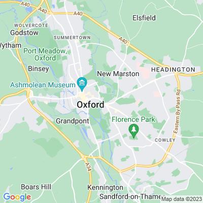 Oxford Botanic Garden Location