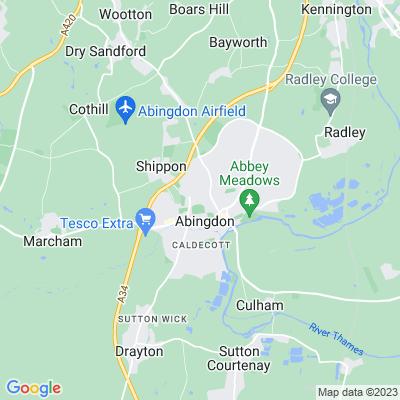 Abingdon School Memorial Playing Field Location