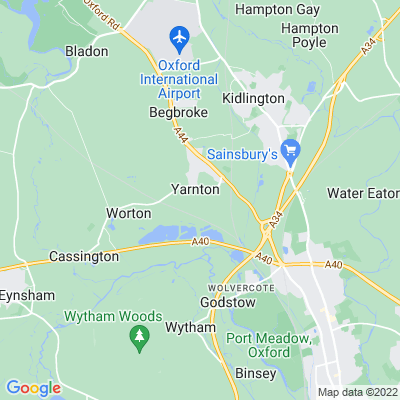 Yarnton Manor Location
