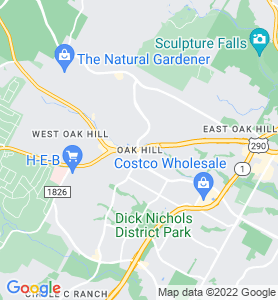 Oak Hill TX Map