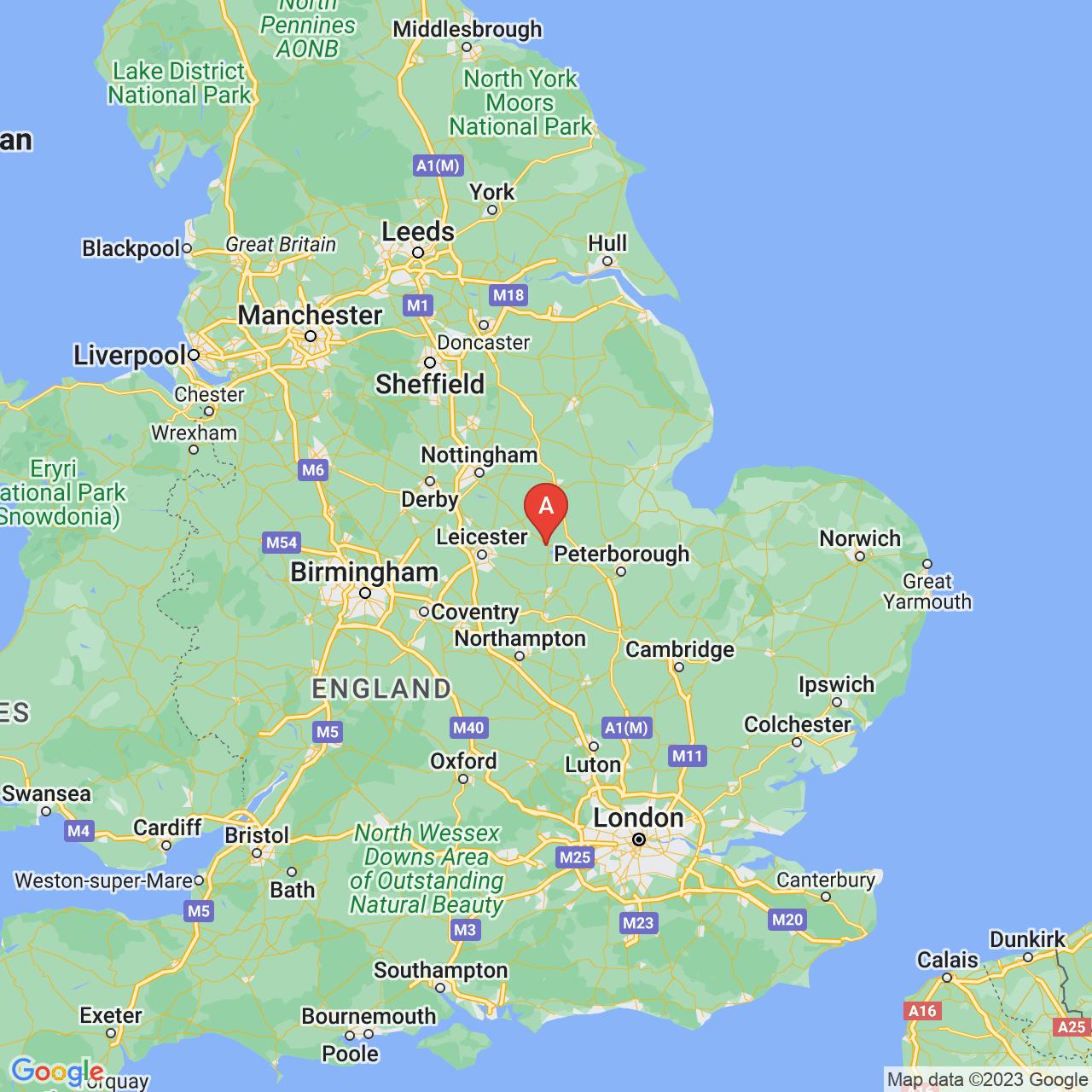 Oakham, England Map