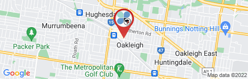 Oakleigh google map