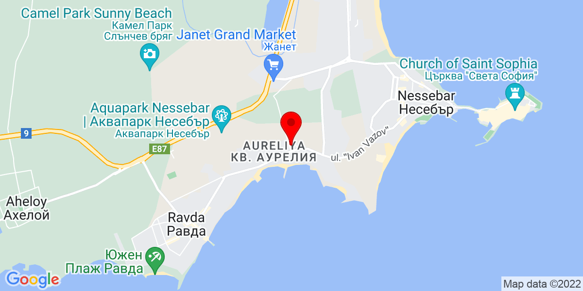 Google Map of Odyssey Apartments nessebar