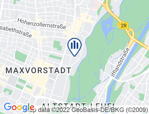 Google Map of Ohmstraße 13  80802 München  Deutschland
