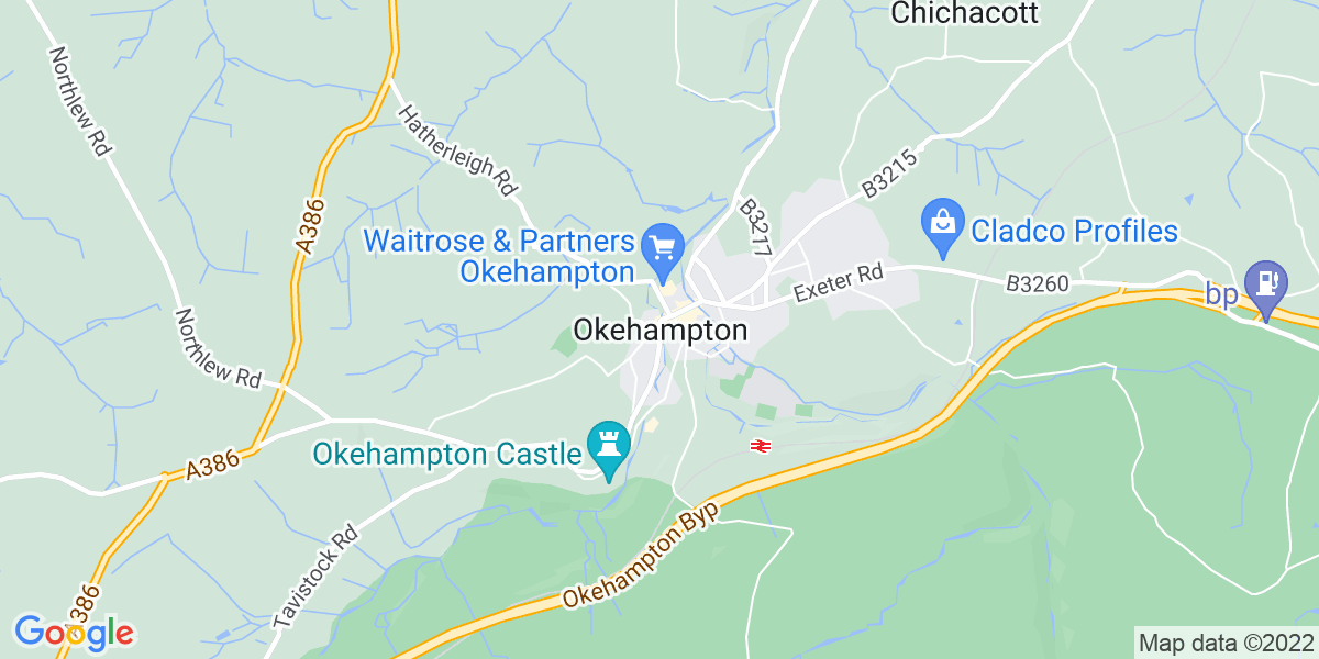 Map: HGV Class 2 Gully Driver - £10.50 per hour -   position in Okehampton