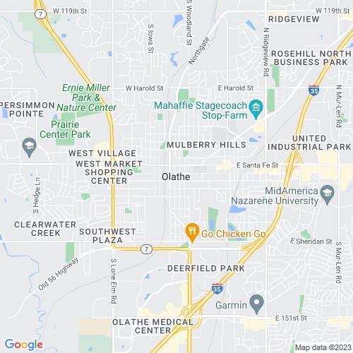 Map of Olathe, KS
