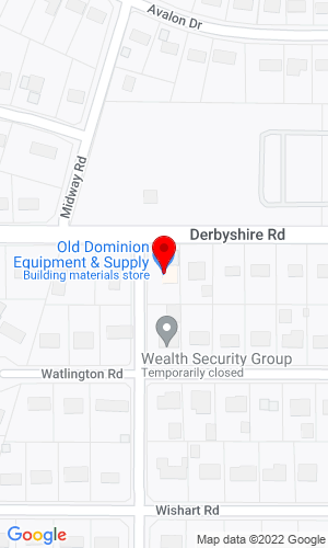 Google Map of Old Dominion Equipment & Supply 515 Wimgrow Road, Richmond, VA, 23229
