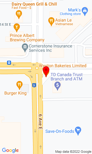 Google Map of Glenmor Equipment, LTD Old Hwy No 2 South, Prince Albert, SK, S6V 5T2