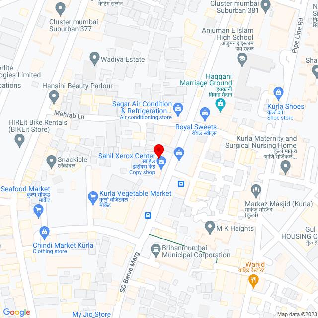 Google Map of Old Mehtab Building, S G Brave Marg, Ambedkar Nagar, Kurla West, Kurla, Mumbai, Maharashtra 400070