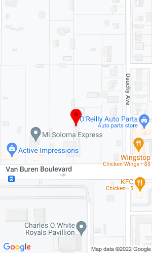 Google Map of Omega Equipment Rentals Inc 18442 Van Buren Blvd, Perris, CA , 92508