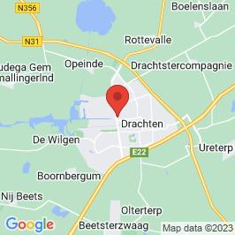 Google map of Van magazijn naar fitness, Drachten