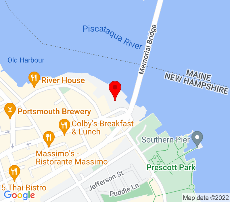 Click to view Google maps office address One Harbour Place, Suite 300, Portsmouth, NH 03801