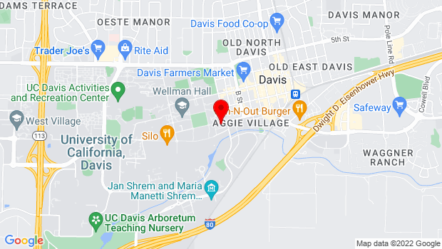 Google Map of One Shields Avenue, Davis, CA 95616