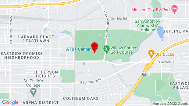 Google Map of One AT&T Center Pkwy., San Antonio, TX 78219