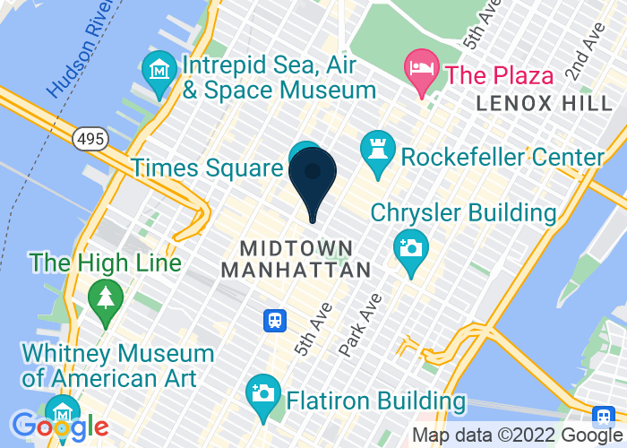 Map of One Bryant Park, 135 West 42nd St., New York, NY 10036, United States