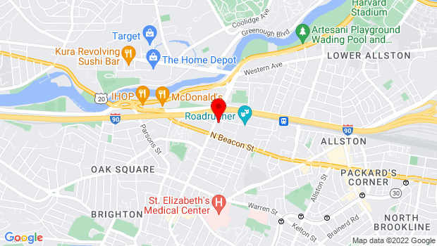Google Map of One Guest Street, Boston, MA