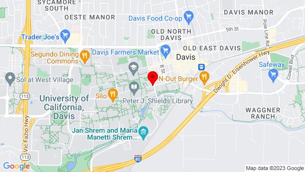 Google Map of One Shields Avenue, Davis, CA 95616
