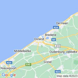 Werkgebied van onze bestrijder in Oostende