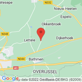 Google map of Erve Oostermaet, Lettele