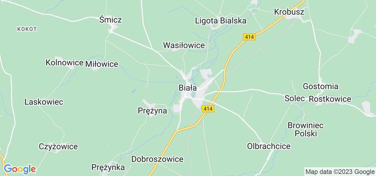 Dostępne w Białej lokalizacje punktów nadania, z których możesz skorzystać, chcąc wysłać turbinę do regeneracji w największym serwisie w Polsce