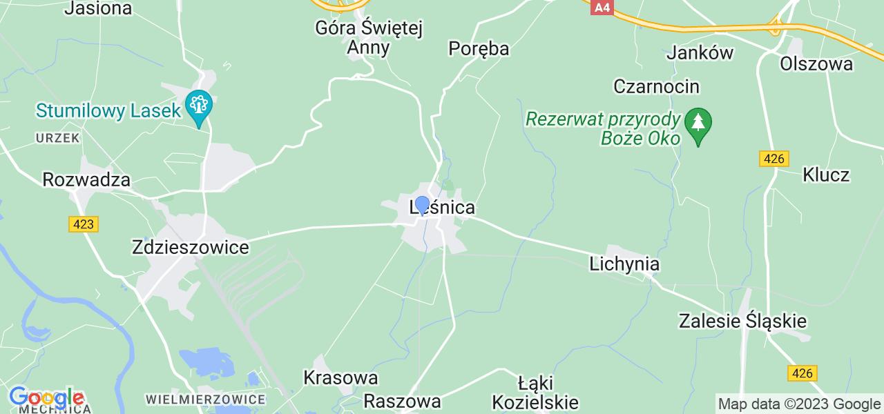 Dostępne w Leśnicy lokalizacje punktów nadania, z których możesz skorzystać, chcąc wysłać turbinę do regeneracji w największym serwisie w Polsce
