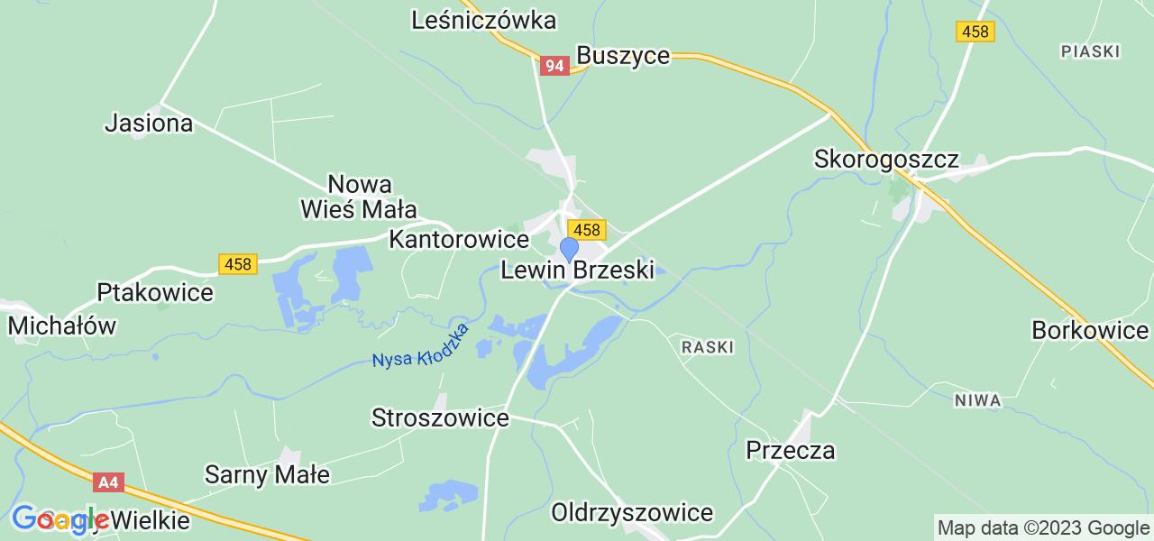 Dostępne w Lewinie Brzeskim lokalizacje punktów nadania, z których możesz skorzystać, chcąc wysłać turbinę do regeneracji w największym serwisie w Polsce