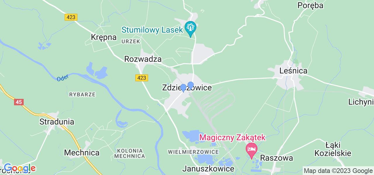 Dostępne w Zdzieszowicach lokalizacje punktów nadania, z których możesz skorzystać, chcąc wysłać turbinę do regeneracji w największym serwisie w Polsce