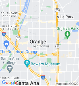 Orange CA Map