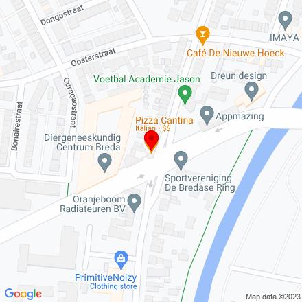 Google Map of Oranjeboomstraat 156 4812 EL Breda