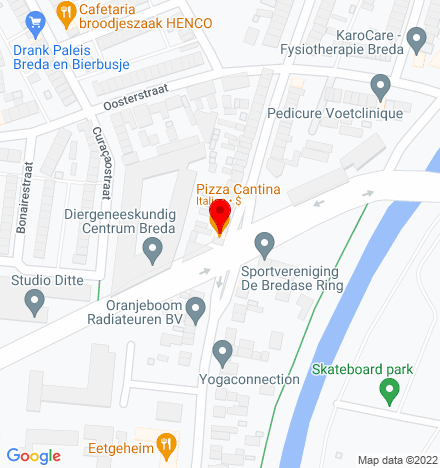 Google Map of Oranjeboomstraat 156 4812 EL Breda