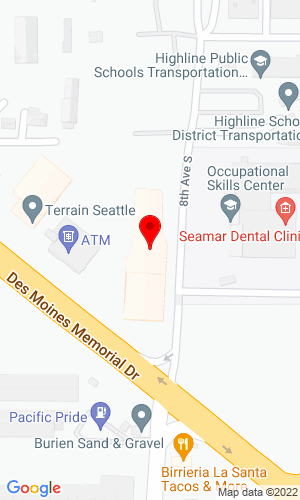 Google Map of Orion Equipment 18060 Des Moines Memorial Drive, Seattle, WA, 98148
