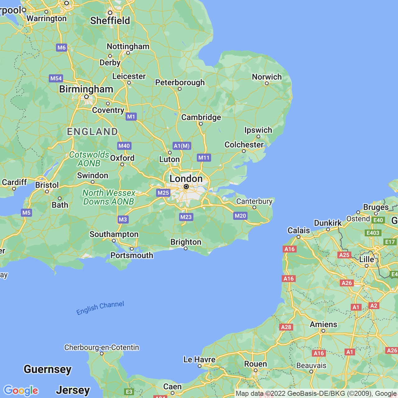 Orpington, England Map