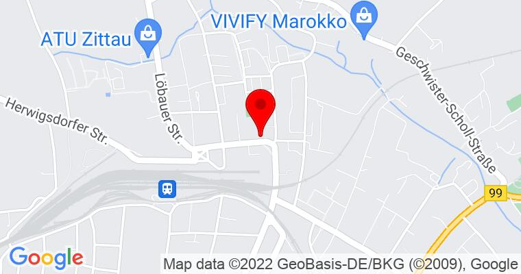 Google Map of Oststraße 9 02763 Zittau