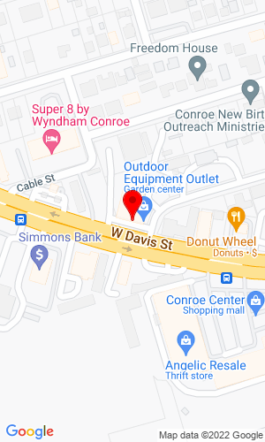 Google Map of Outdoor Equipment Outlet, Inc. 800 West Davis, Conroe, TX, 77301