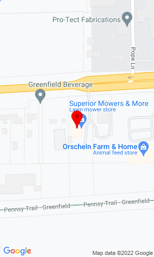Google Map of Outdoor Power Store, Inc. 2487 E Main St, Greenfield, IN, 46140
