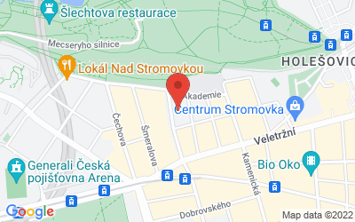 Map of Pracovna na Praze 7