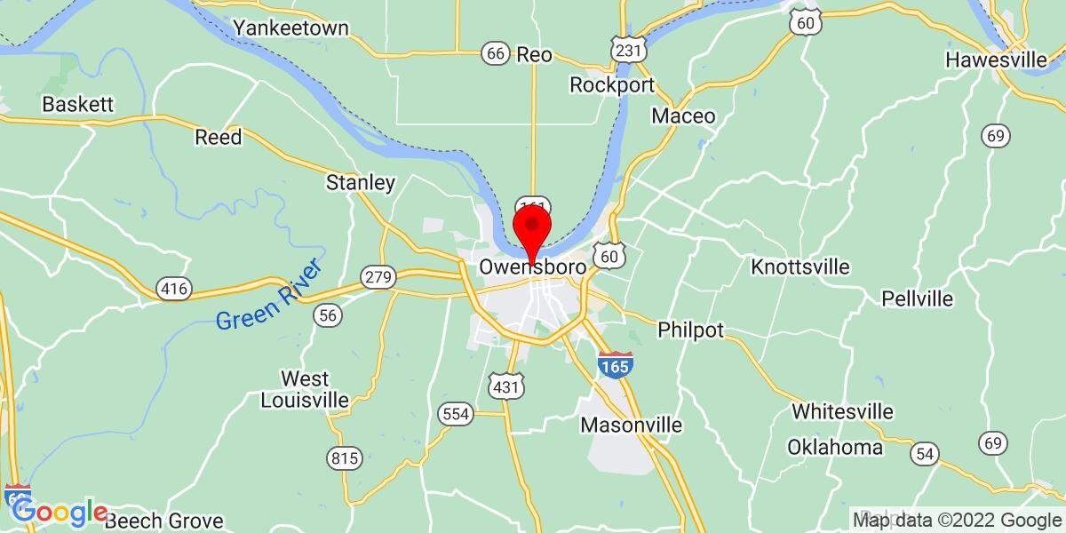 Google Map of Owensboro, KY