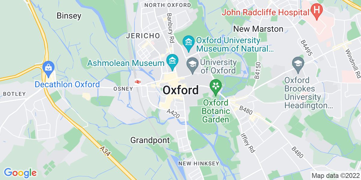 Map: Support Worker role in Oxford