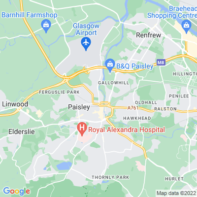 Fountain Gardens, Paisley Location