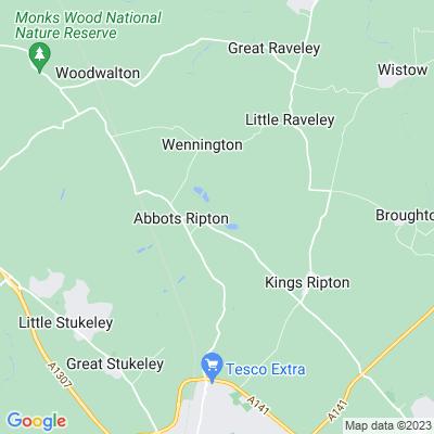 Abbots Ripton Hall Location