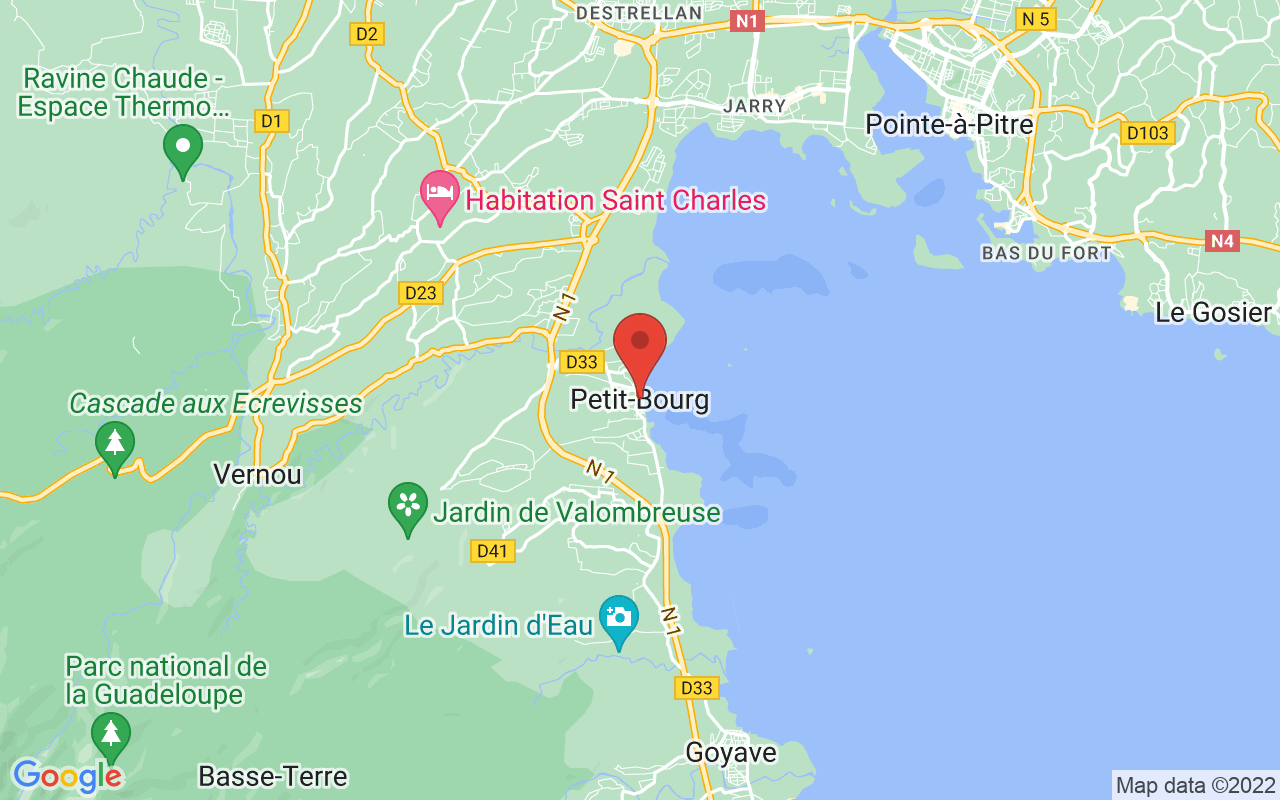 Google Maps PETIT BOURG (97170)