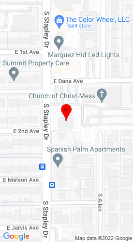 Google Map of AU Equipment LLC PO BOX 2710 , Mesa, AZ, 85214
