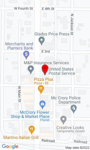Google Map of Cain Auctions PO Box 137, McCrory, AR, 72101