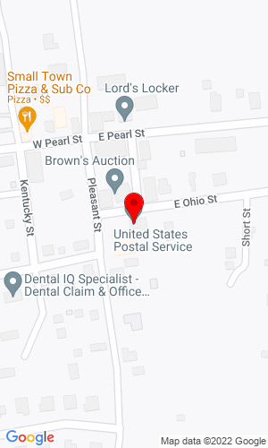Google Map of Douglass Inc. PO Box 175, Trafalgar, IN, 46181